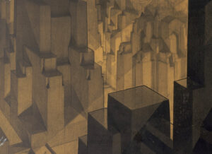 Hugh Ferris 1927 - Building in the Modeling