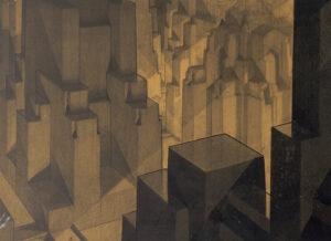 Hugh Ferris 1927 - Building in the Modeling